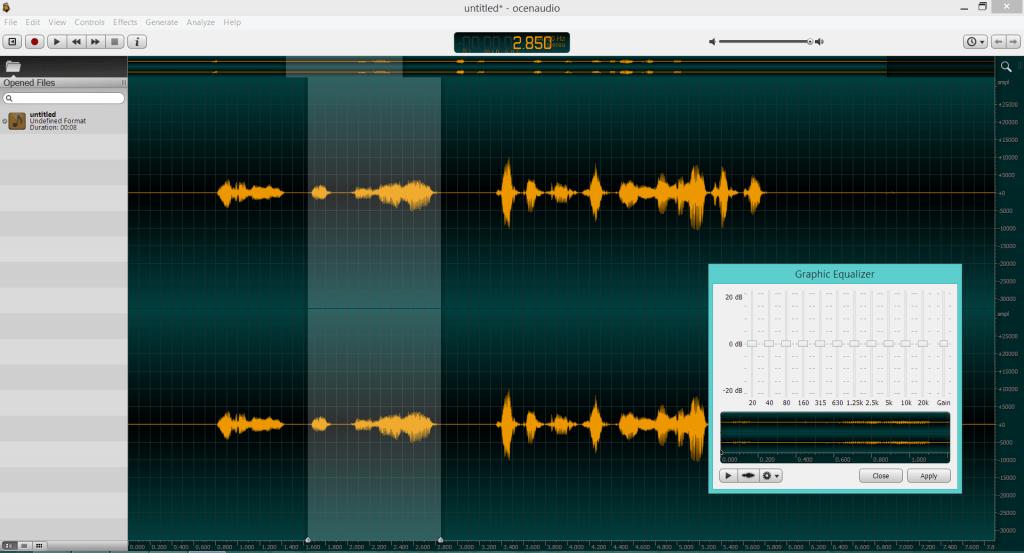 ocenaudio, a new free audio editor