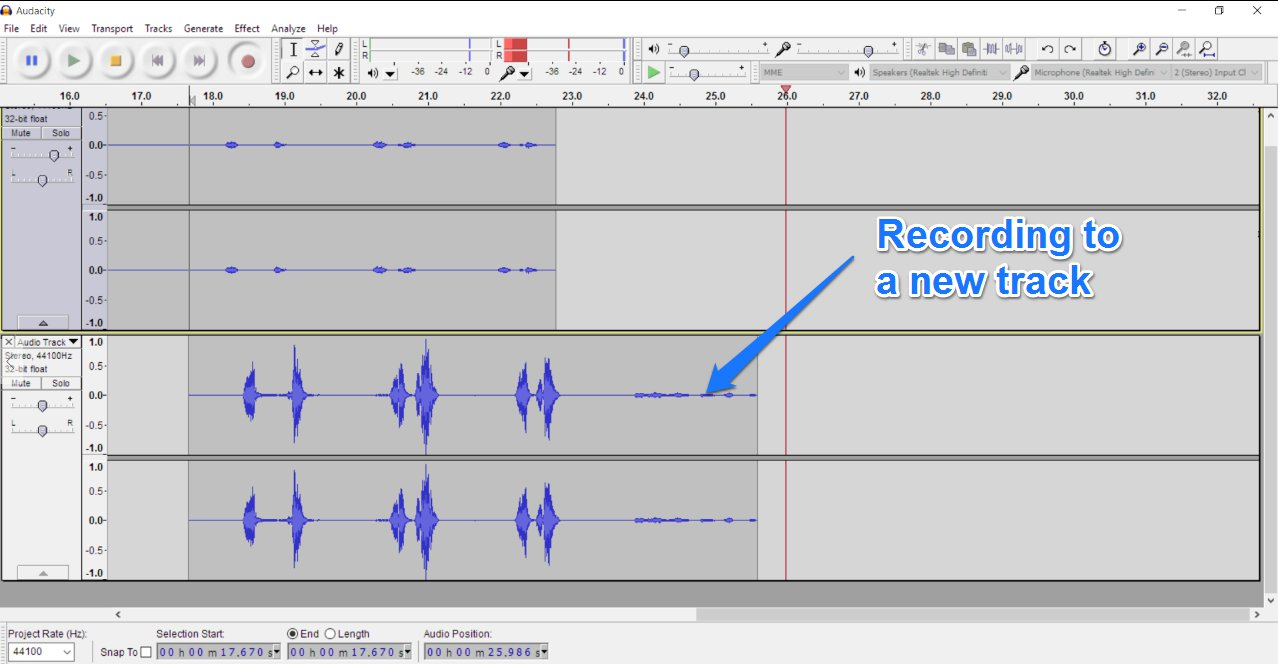 How To Do Voice Overs Everything You Need Know Audio Video Hook Up Diagram Template Stereo Recording A New Track In Audacity