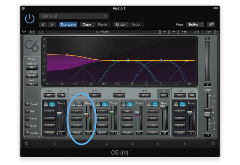 compressing the low end to control it