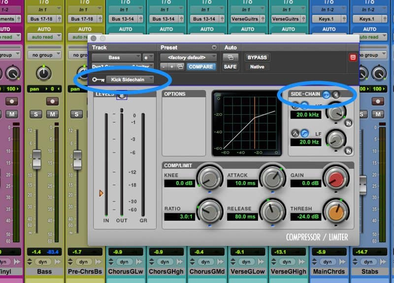 setting kick drum as the sidechain
