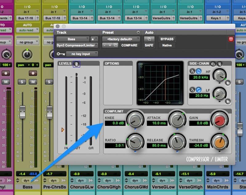 sidechain compression bass