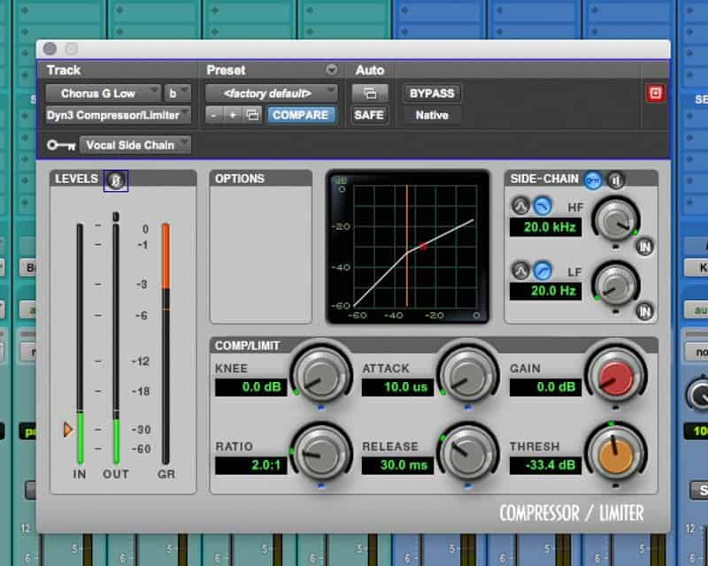 vocal sidechain compression