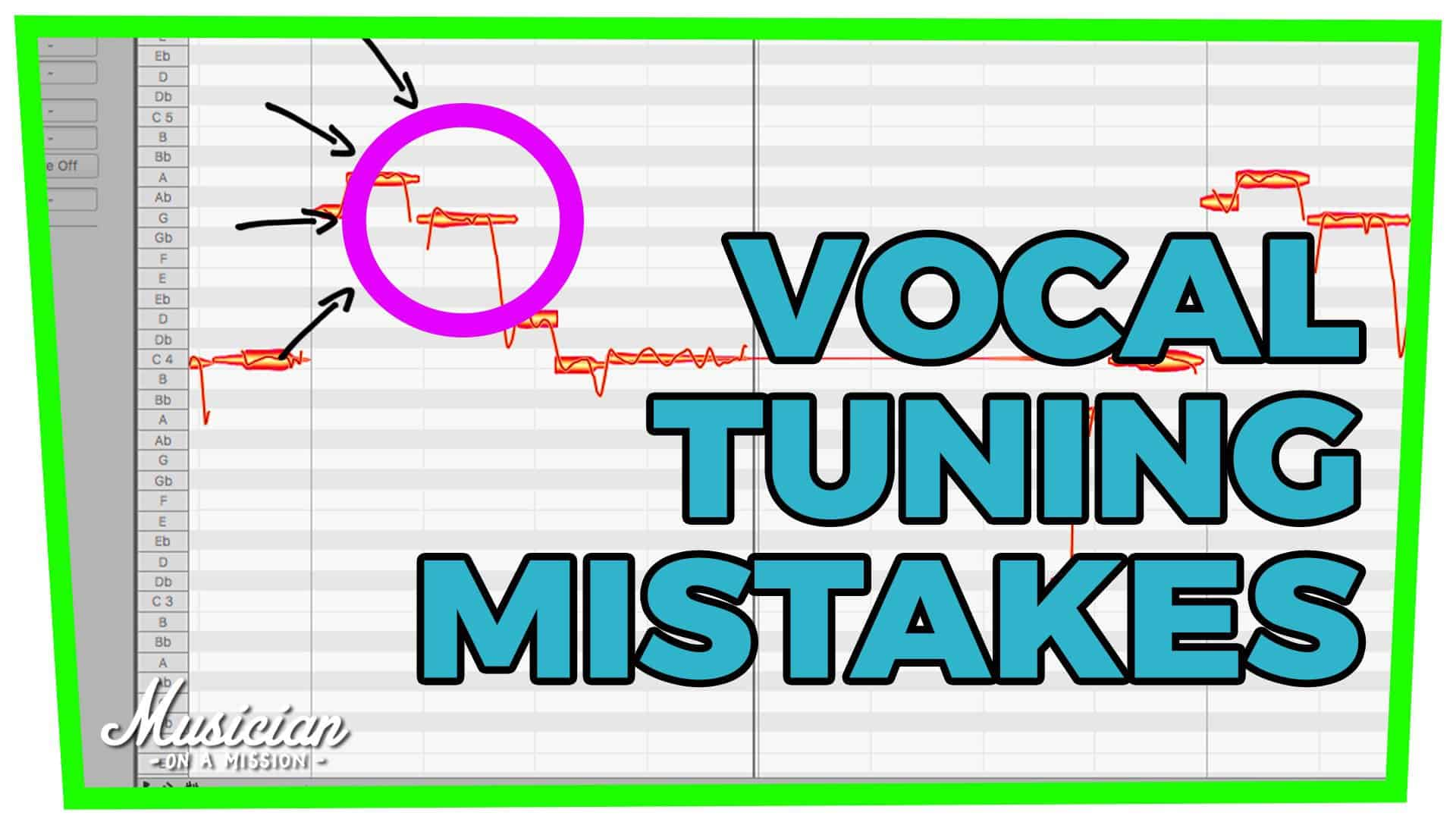 5 VOCAL TUNING MISTAKES (How to Use Melodyne 4)