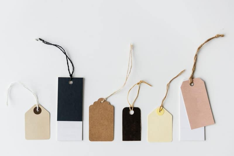 price tags to symbolize how cheap headphones can be