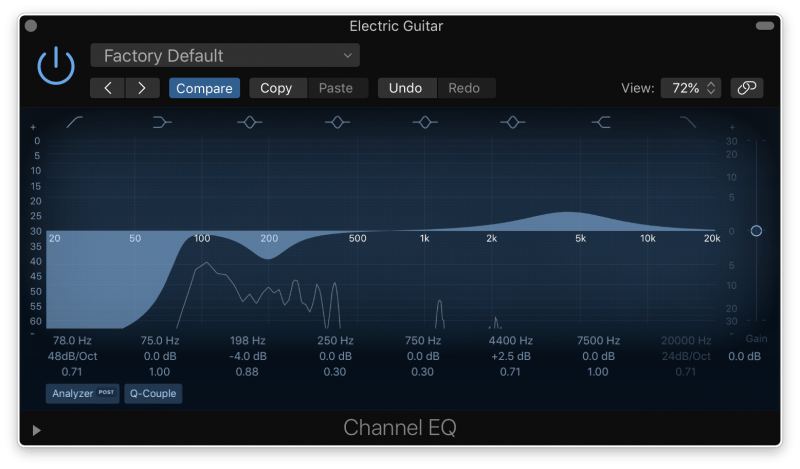 stock eq plugin with high pass filter