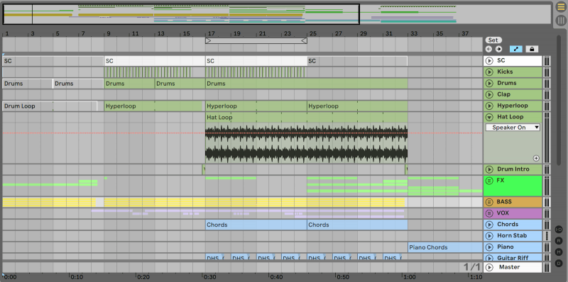 Ableton Arrangement View
