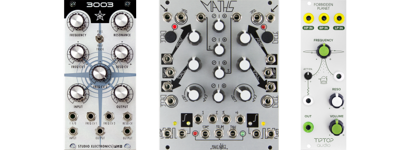 forbidden planet, maths, and 3003 synth modules