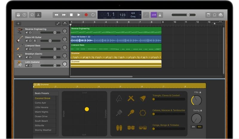 garageband music production software