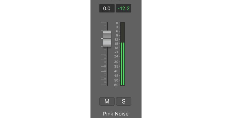pink noise on an audio channel