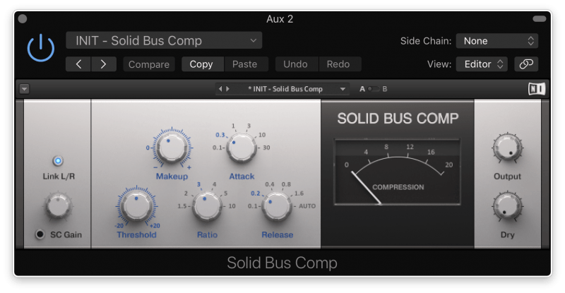 using bus compression to glue sounds together