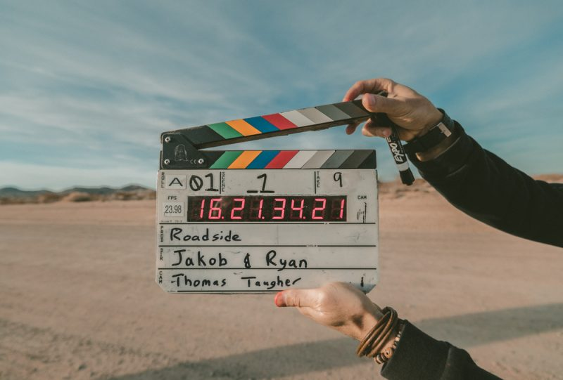 clapperboard for an indie film